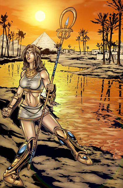 Isis : dessin Hervé Breuil, couleur Raph Hédon.