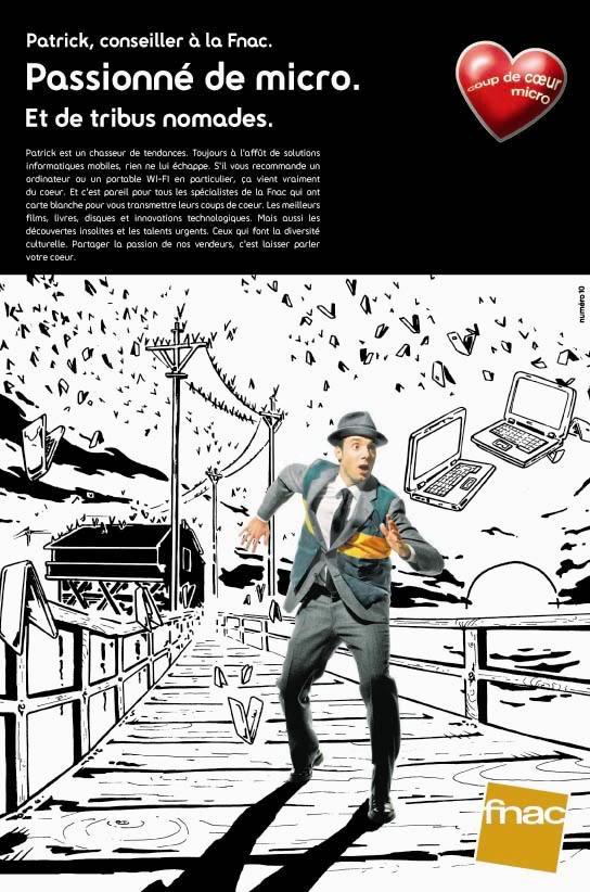 Publicité pour la Fnac par l'agence de pub N°10.
