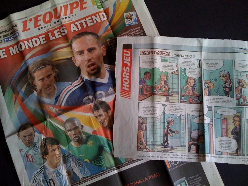 L'Équipe : le journal qui publie la BD Banc de Touche !