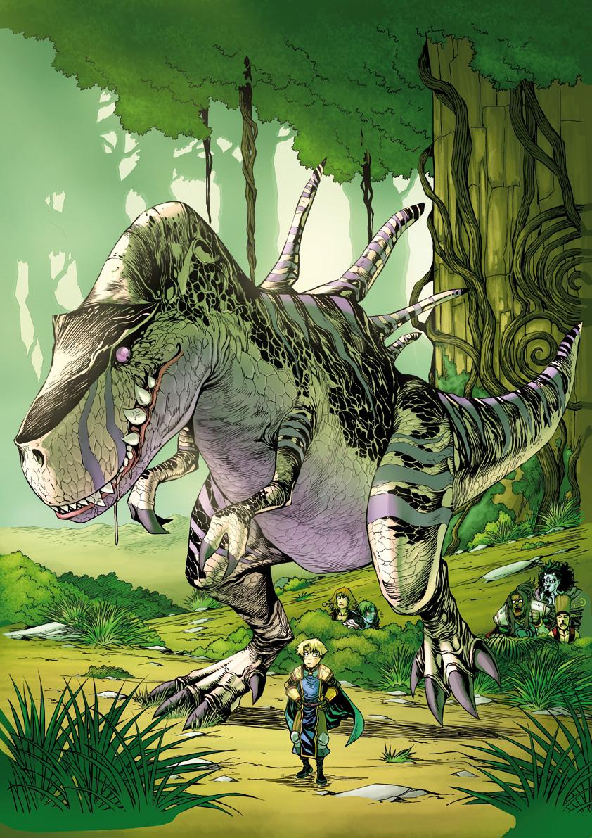 Waow tome 7 : colorisation de la couverture par Fred Vigneau.