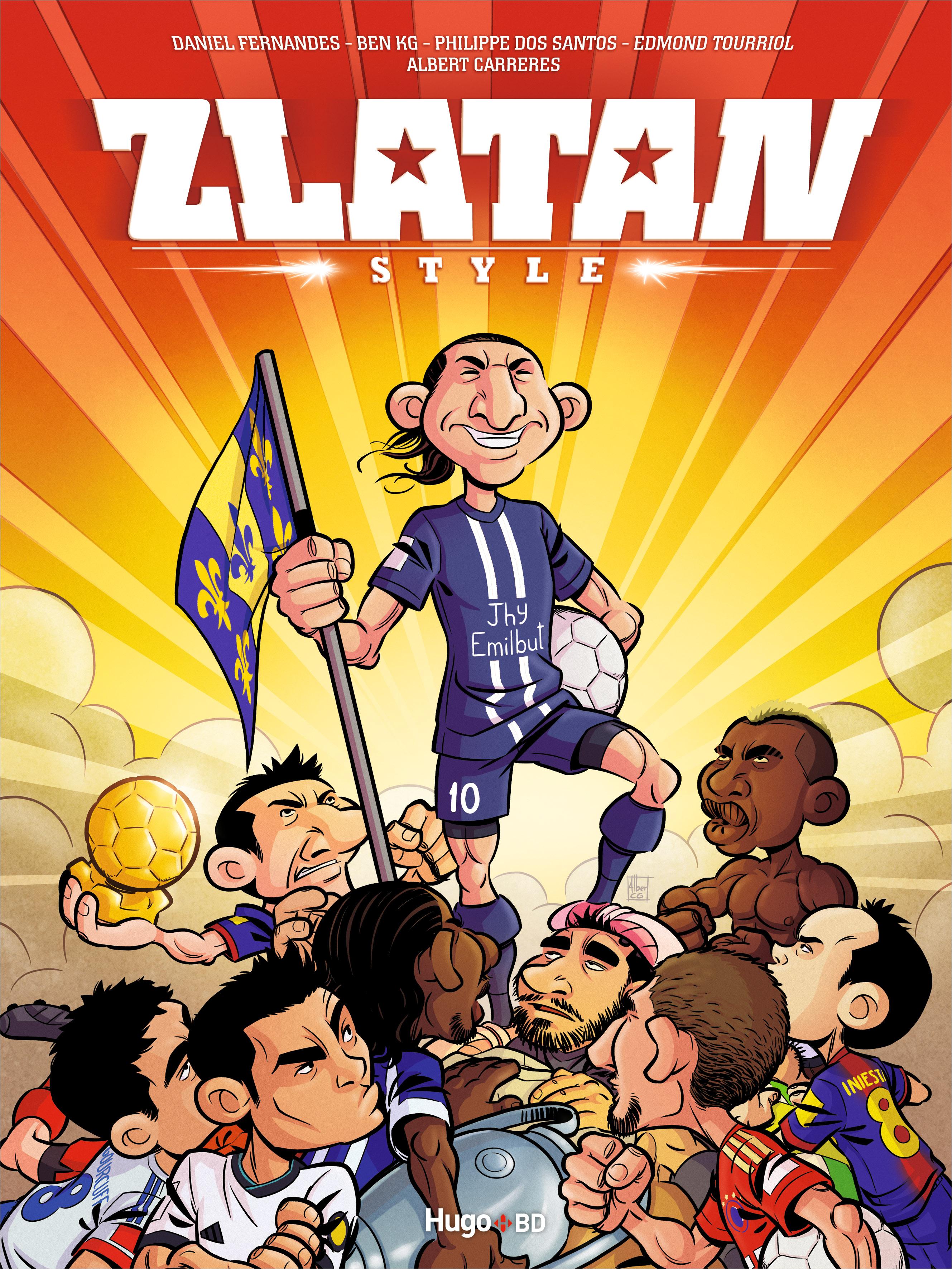 Il va zlatanner la BD ! Couverture du premier tome de Zlatan Style, par Albert Carreres et Alejandro Torres