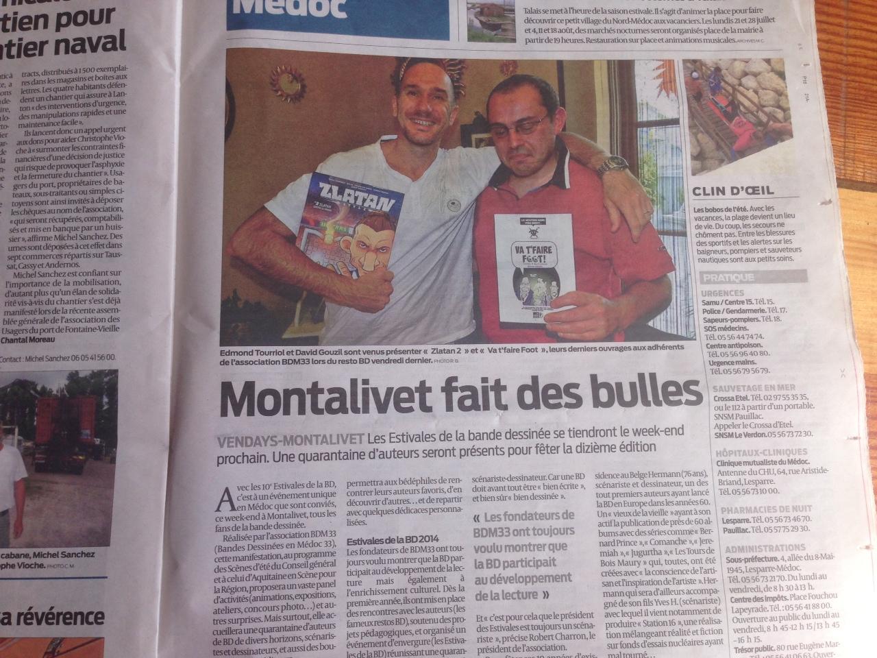 Les Estivales de Montalivet dans le journal Sud-Ouest.