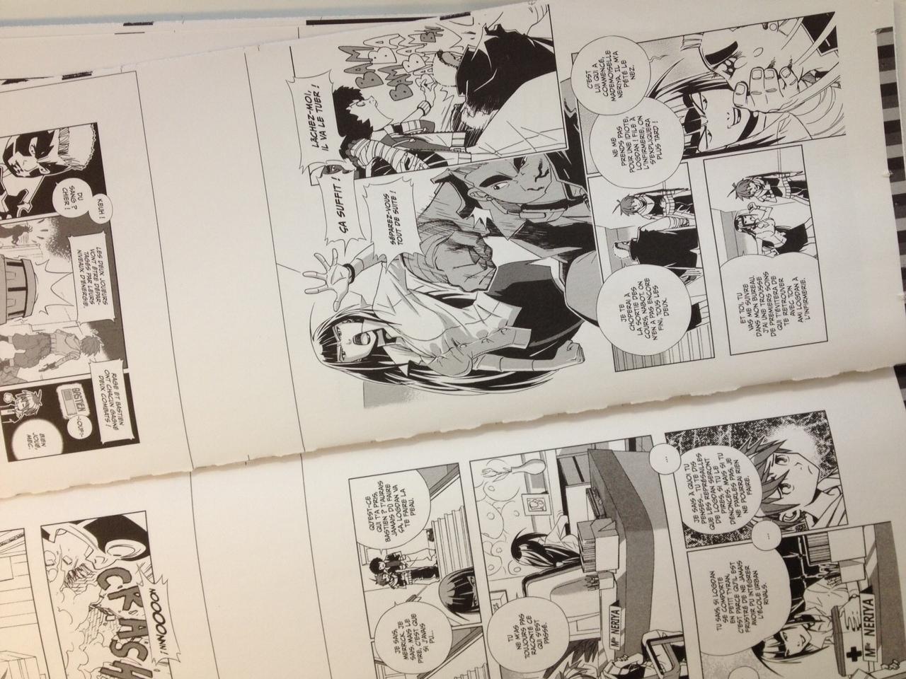 Un aperçu du manga Urban Rivals © Boostr Prod et © Delcourt.