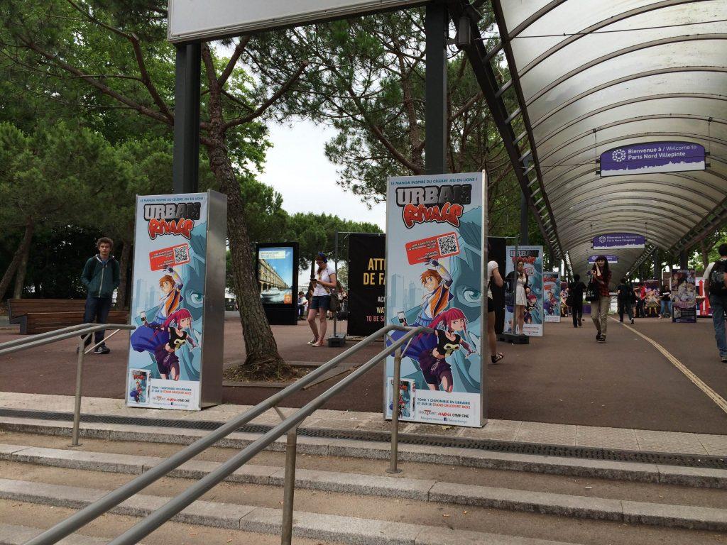 L'arrivée à Japan Expo, à la sortie du R.E.R.