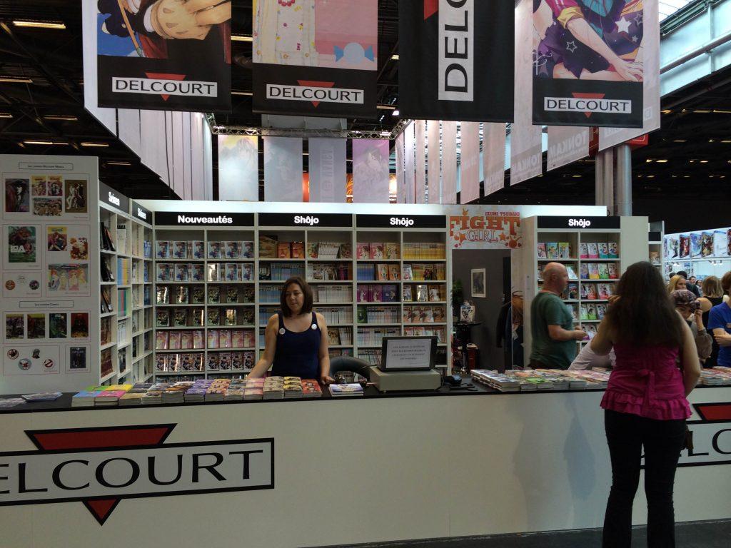 Le stand Delcourt sur Japan Expo.