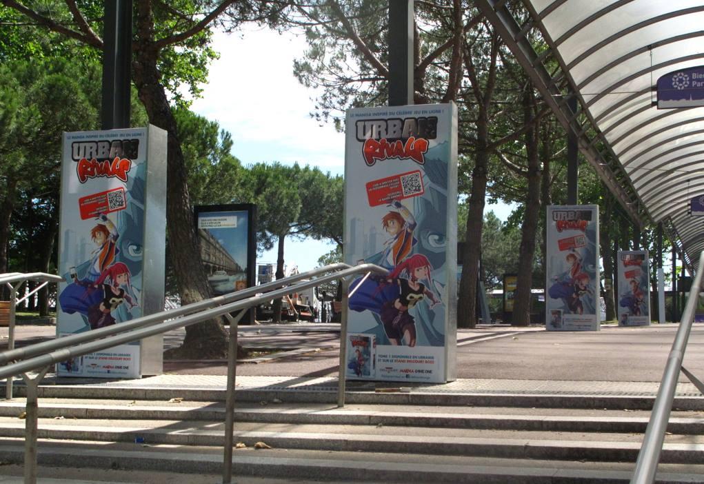 Urban Rivals à Japan Expo : des affiches dès la sortie du R.E.R. !
