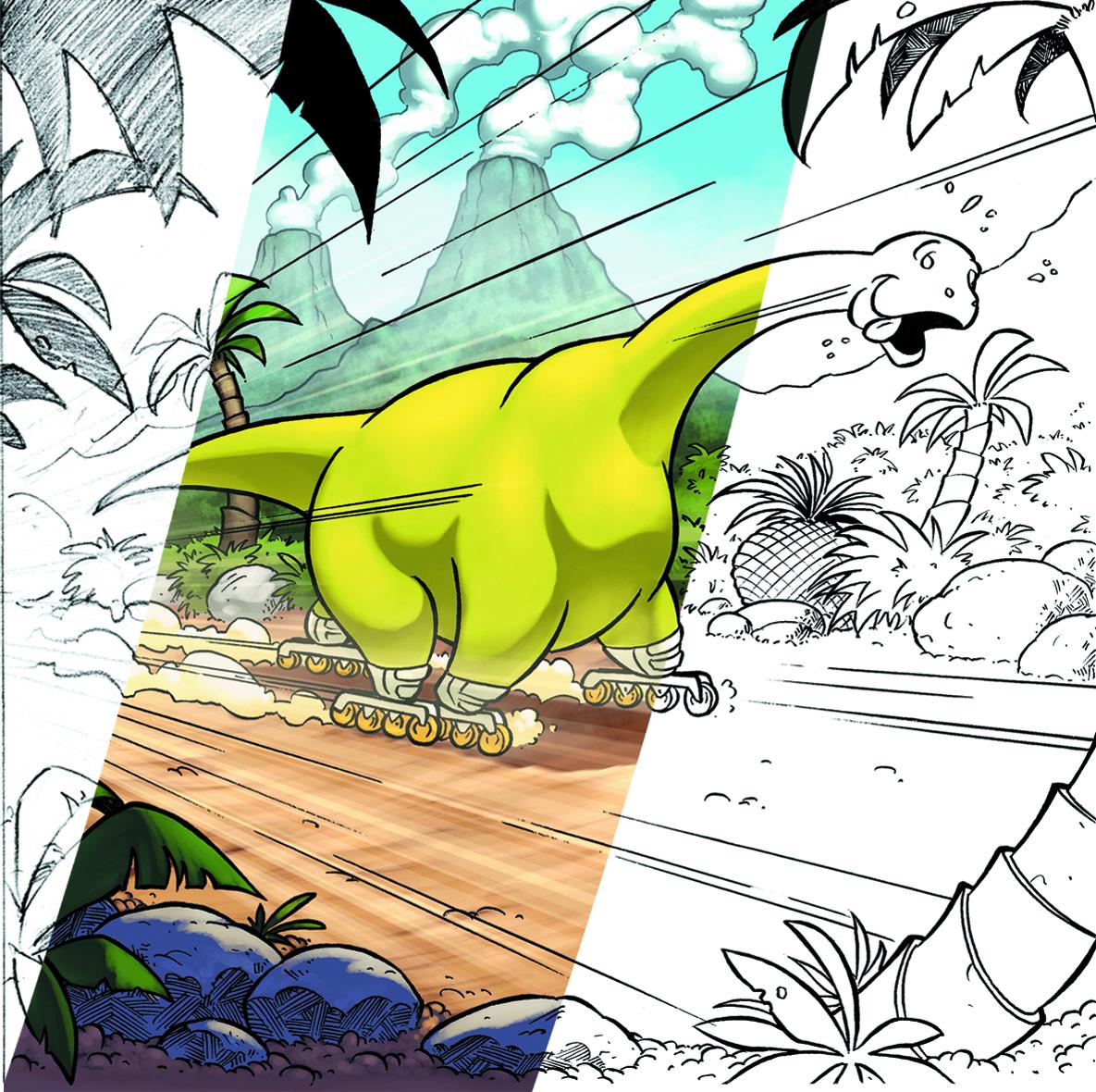 Comment peser un dinosaure en rollers? By Samuel Ménétrier