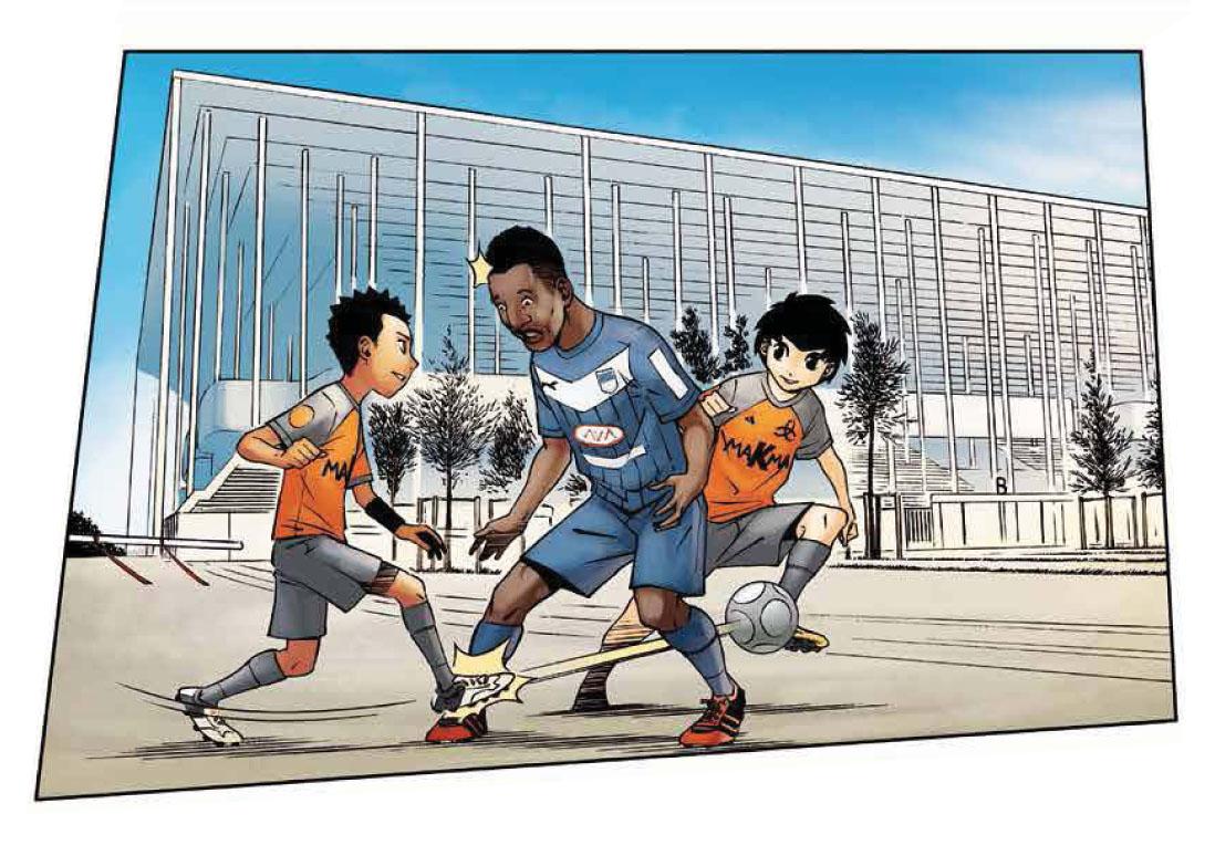 Bordeaux Métropole : deux jeunes joueurs de l'équipe Z mettent la misère à un grand gabarit qui joue à Bordeaux.