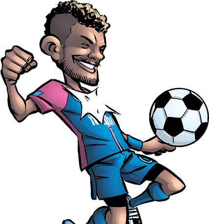 Neymar Style : une BD d'humour MAKMA écrite par Dominique Clère, gagman sportif, Daniel Fernandes, Philippe Dos Santos et Edmond Tourriol.