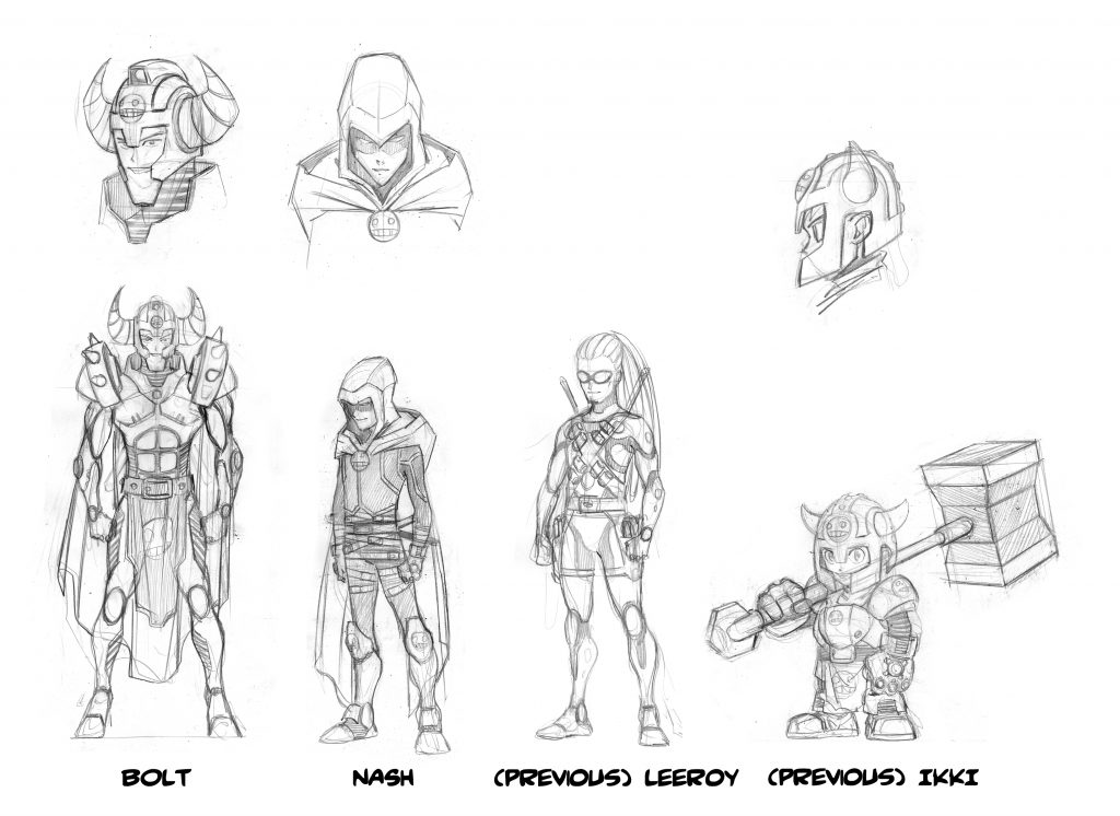 Character designs du manga par Albert Carreres. Epic Lanes © Hachette Comics.