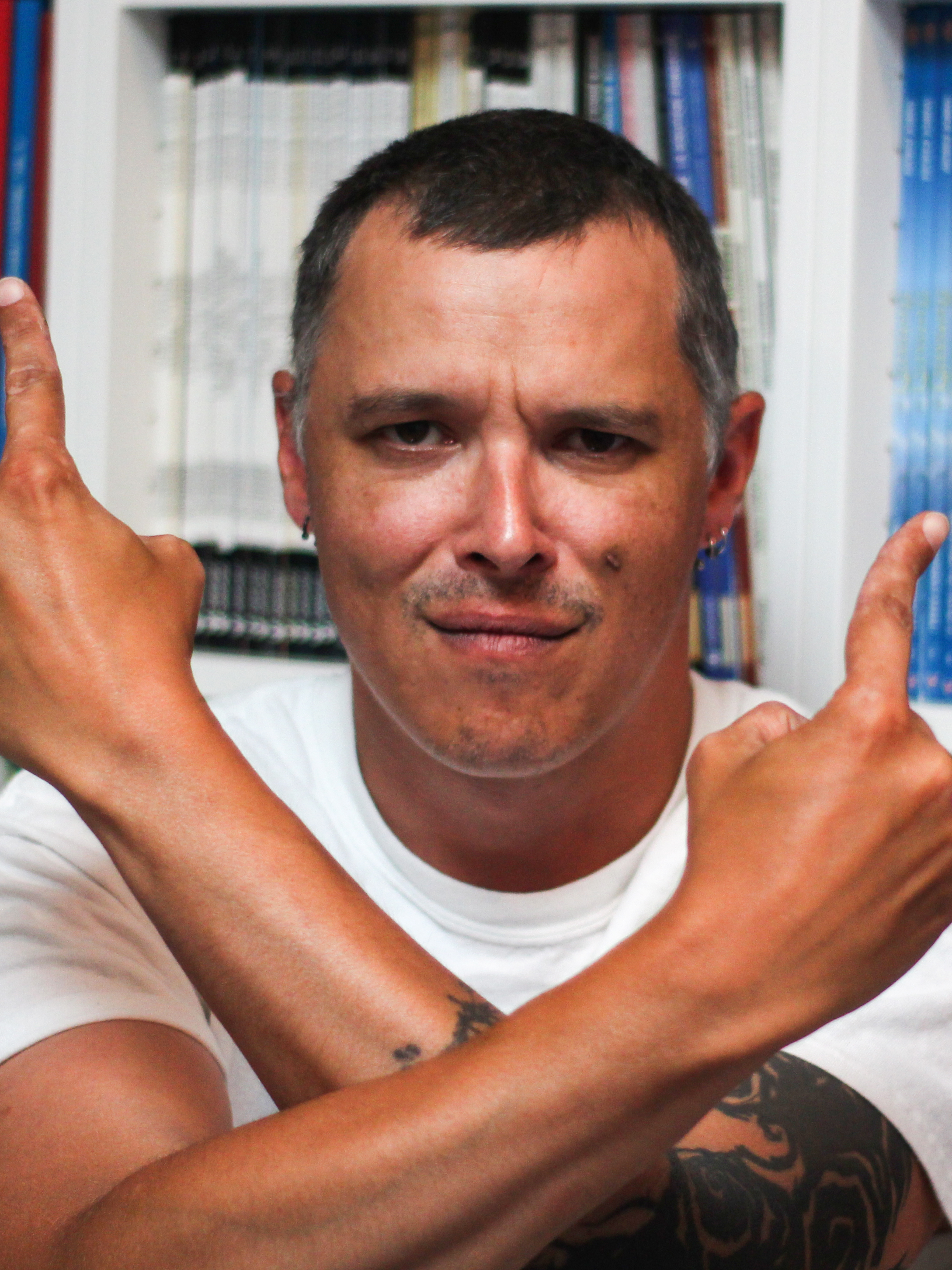 Portrait Benjamin Rivière, alias KGBen, Séminaire Makma (Photo : Jean-Baptiste Merle)