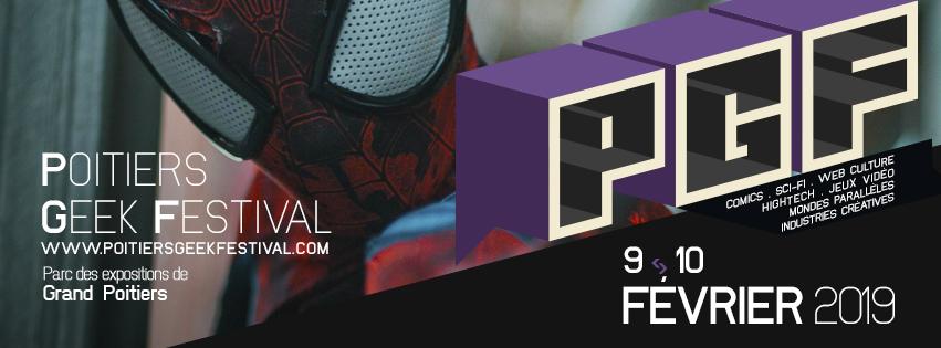 Parmi les événements BD auxquels participe MAKMA, le PGF 2019 (Poitiers Geek Festival).