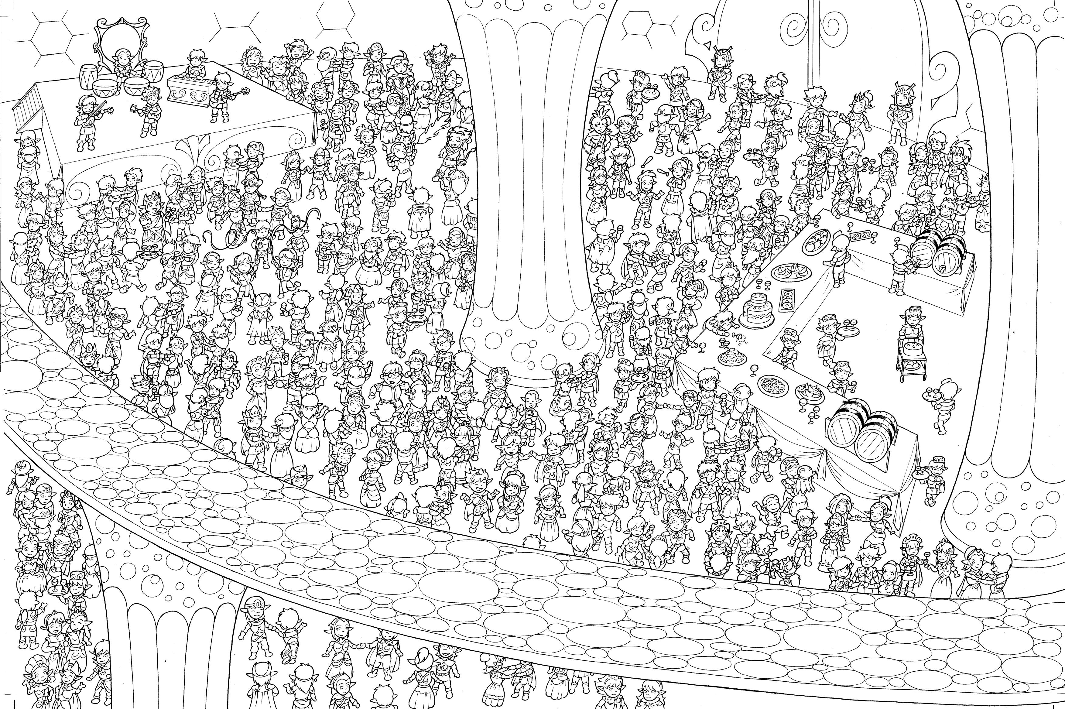 Cherche les Légendaires © Patrick Sobral & Groupe Delcourt.