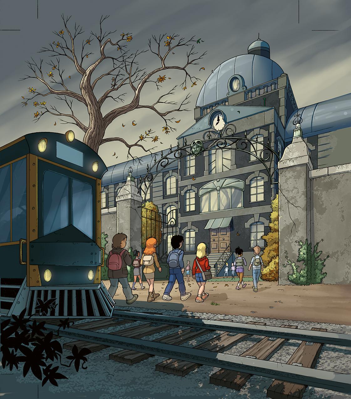 La BD Malenfer est illustrée par Samuel Ménétrier sur un scénario de Cassandra O'Donnell. Colorisation BD : Fred Vigneau.