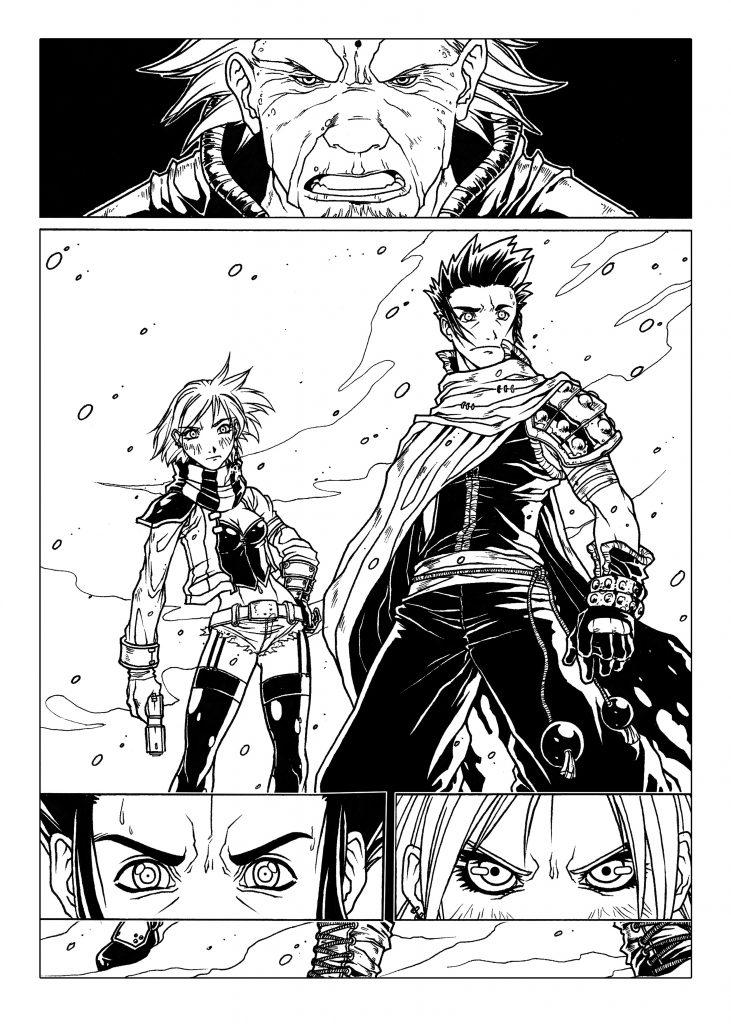 Code Néon : un des premiers shonen mangas créés par Edmond Tourriol et Stephan Boschat