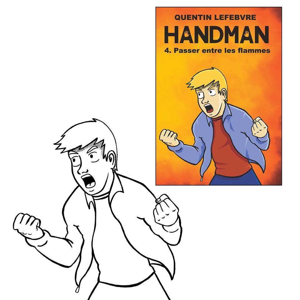 Handman t4 de Quentin Lefebvre, colorisation BD par Bryan Wetstein.