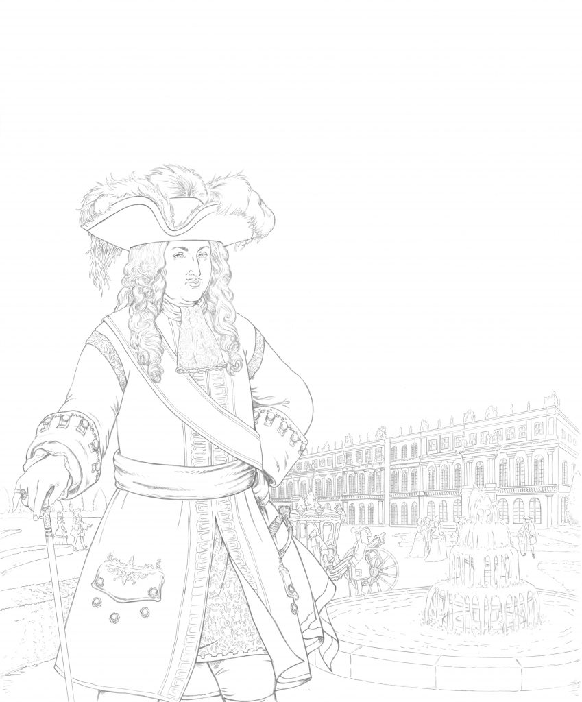 Louis XIV illustré par Hervé Breuil.
