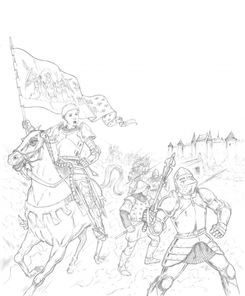 La Pucelle d'Orléans illustrée par Hervé Breuil.