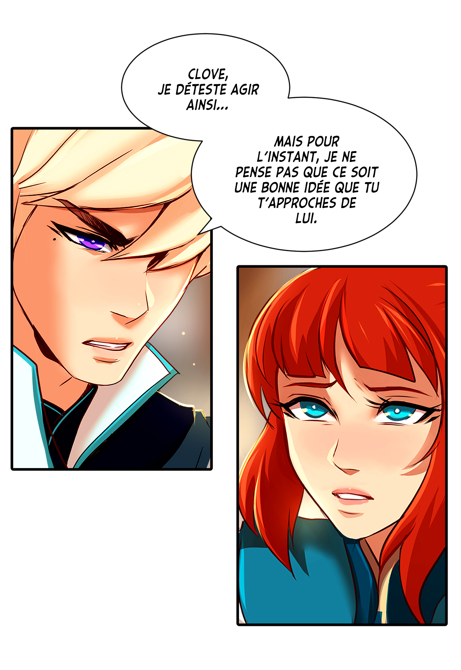 Webtoon Subzero en français (traduction : Sarah Kourouma ; lettrage : Bryan Wetstein)
