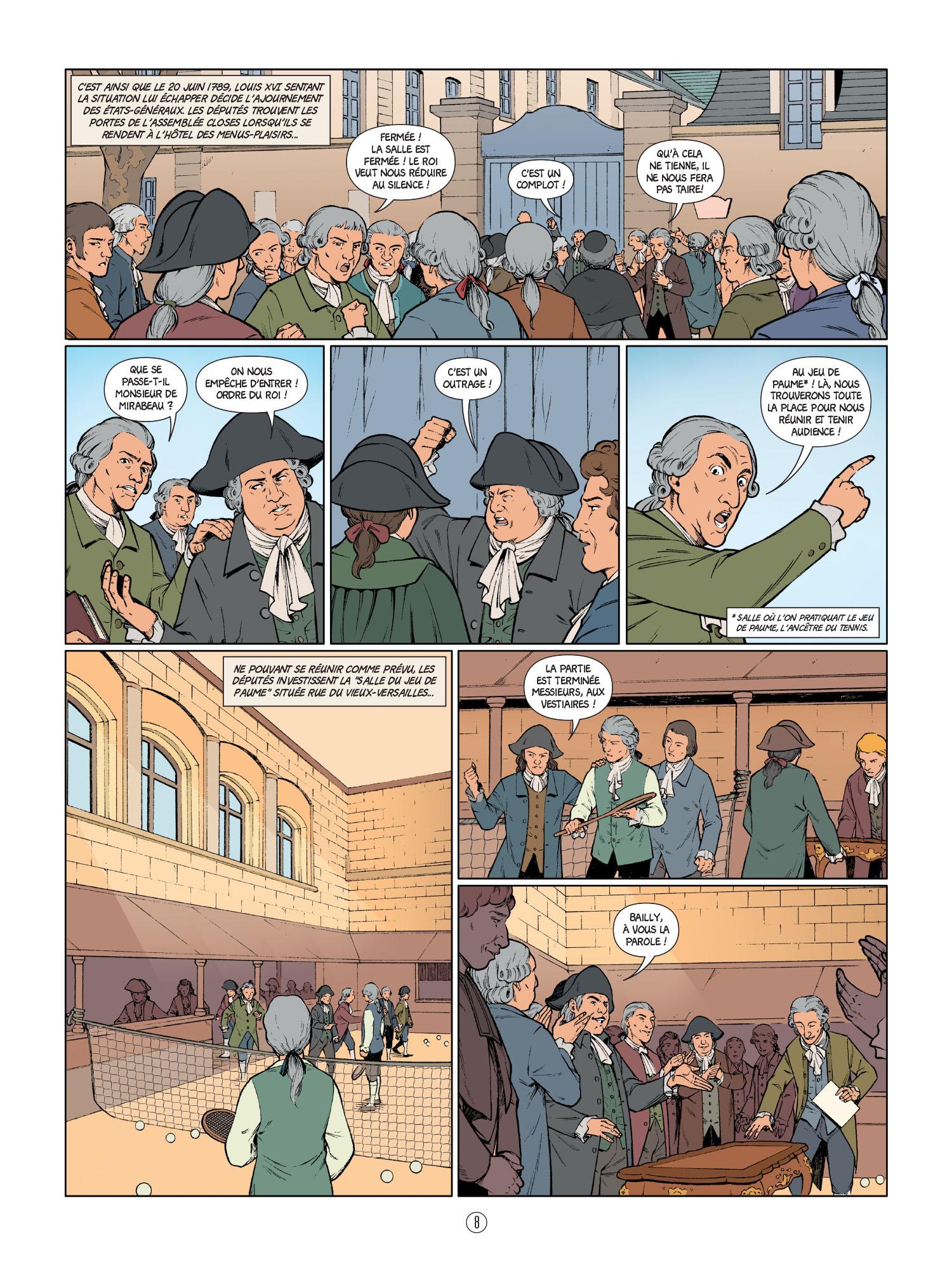 La Révolution Française en BD : le Serment du Jeu de Paume.