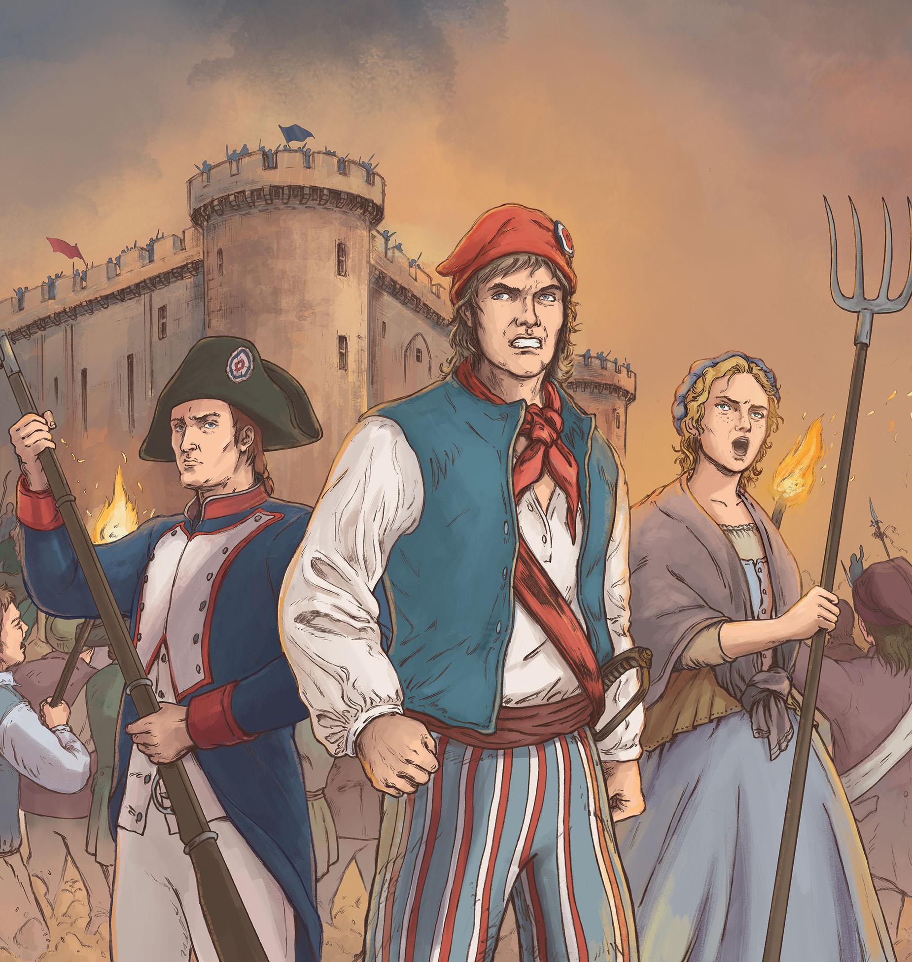 Révolution Française en BD : crayonné Hervé Breuil, couleurs Esther Chahian