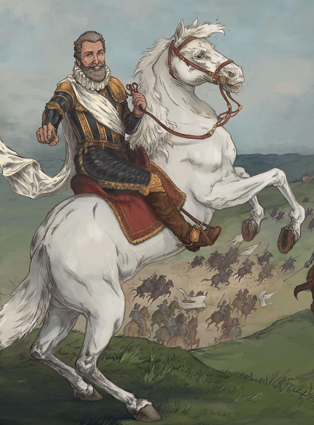 Henri IV en BD : crayonné Hervé Breuil et couleurs Esther Chahian