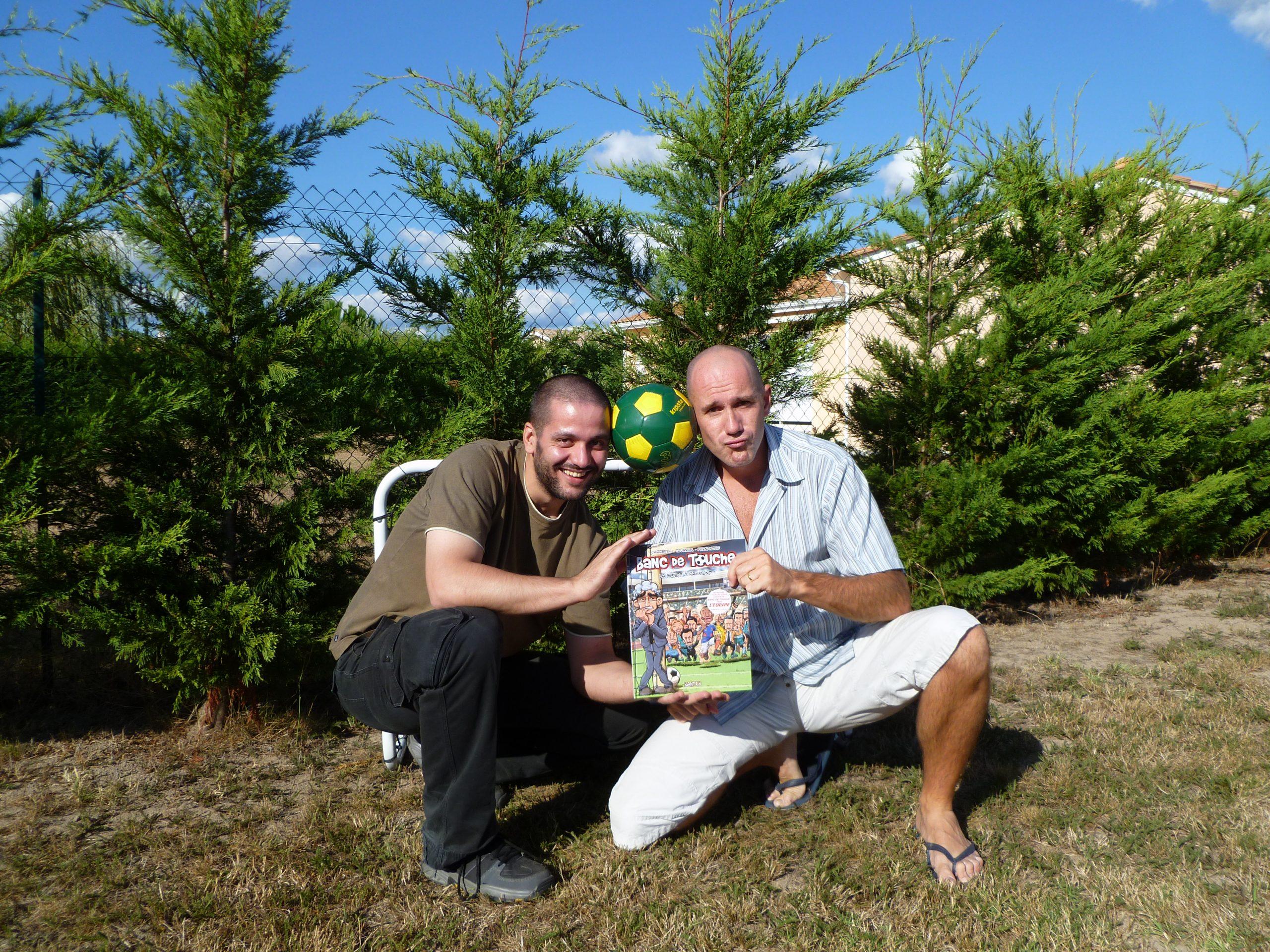Questionnaire d'Edmond Tourriol : une photo de Dan Fernandes et Ed, auteurs de Banc de Touche.
